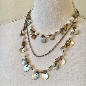 Pearls and Shell Necklace by Premier Designs.